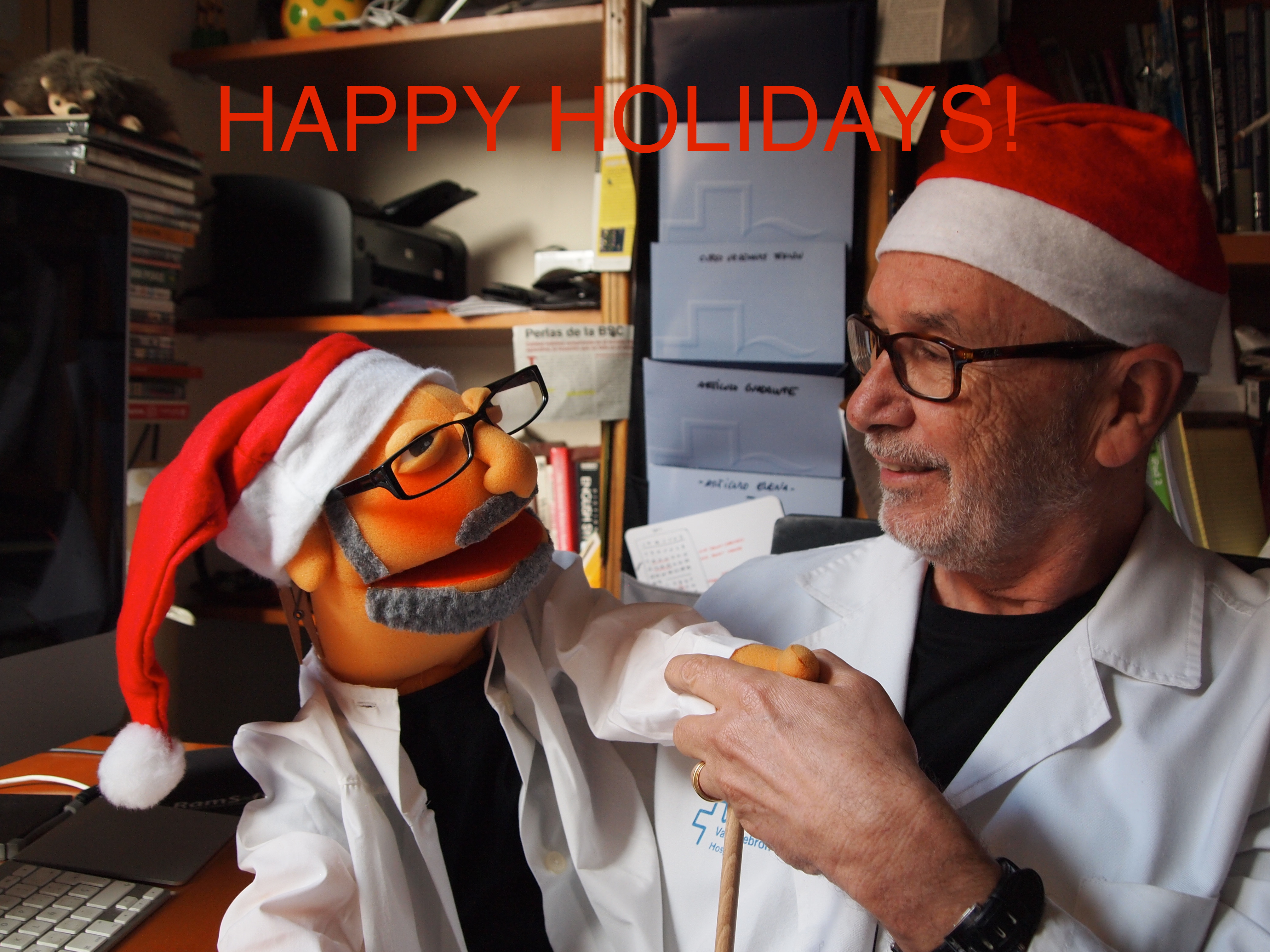 Happy Holidays from Prof. Cáceres and Dr. Pepe